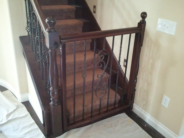 Baby Gates - Traditional - Staircase - las vegas - by JD Stairs Inc