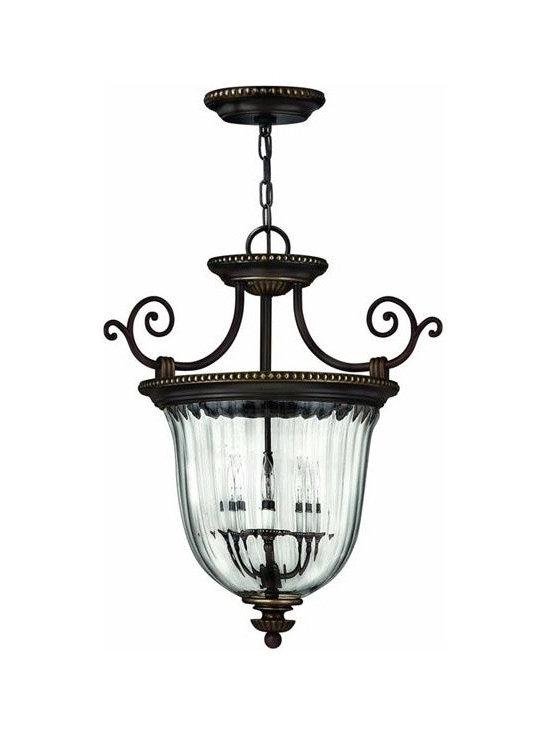 Hinkley Lighting 3613OB Hanger 3 Light Foyer Cambridge Collection -