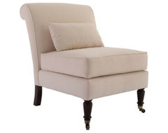 Leyland Armless Chair with Lumbar Pillow traditional chairs