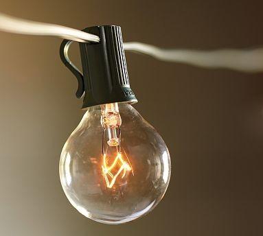 string of light bulbs globe string lights 40 light. Black Bedroom Furniture Sets. Home Design Ideas