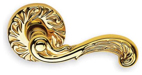 Ornate Solid Brass Lever - Victorian - Door Levers - miami - by US Homeware/Doorware.com