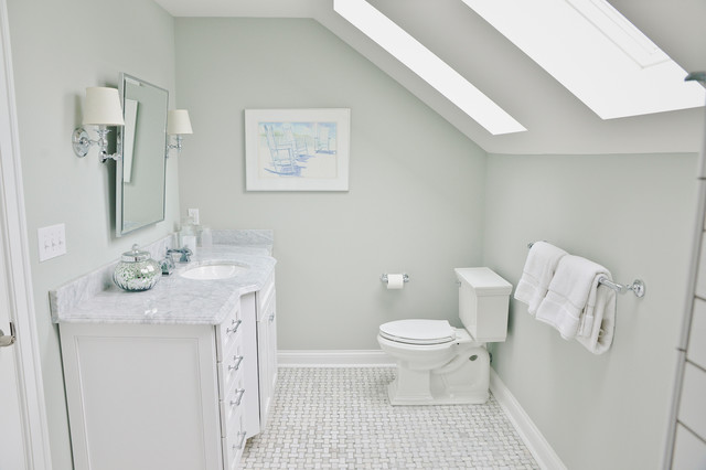 Whole home remodel beach style bathroom cleveland for Whole bathroom remodel