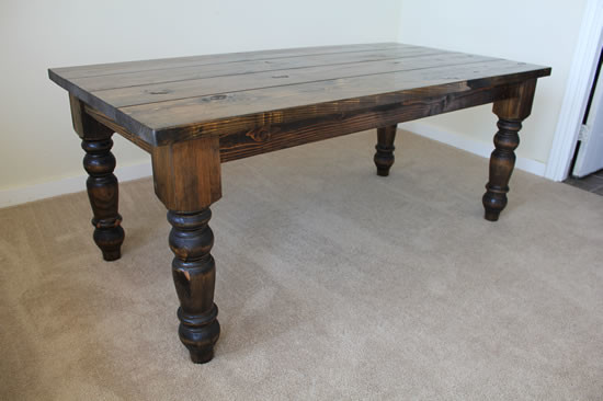 72quot Baluster Turned Leg Dining Table Rustic Dining  : rustic dining tables from houzz.com size 550 x 366 jpeg 39kB