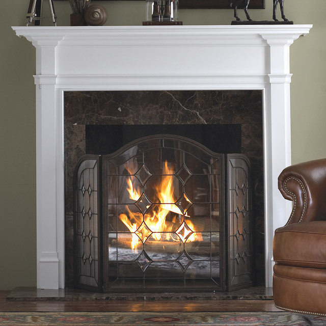 Hampton Wood Fireplace Mantel Traditional Indoor Fireplaces Other Metro By