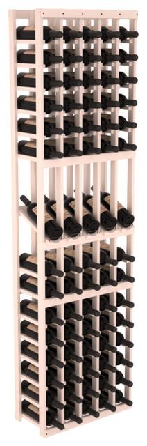 5 Column Display Row Wine Cellar Kit in Pine, White Wash contemporary-wine-racks