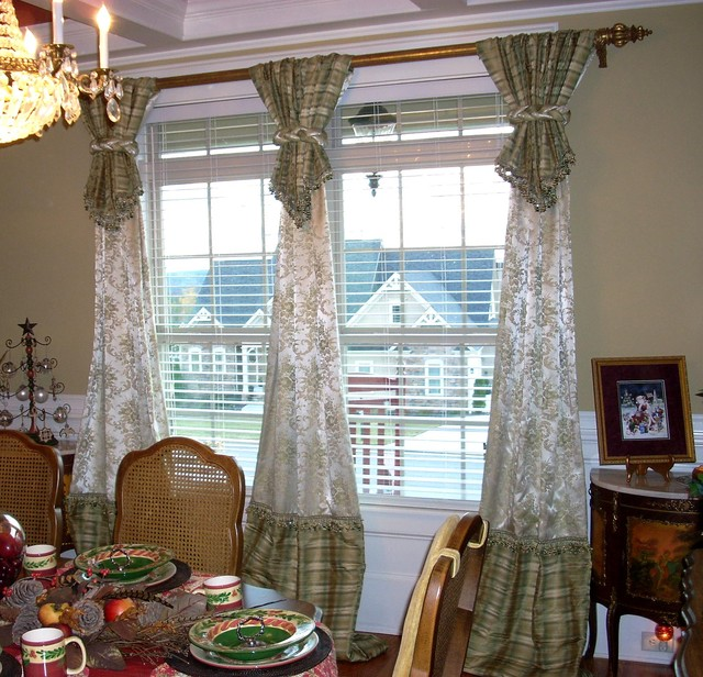 Window treatments traditional dining room atlanta Drapery treatments ideas