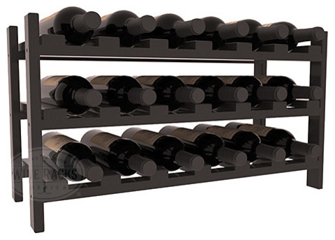 18 Bottle Stackable Wine Rack in Pine with Walnut Stain + Satin Finish traditional-wine-racks