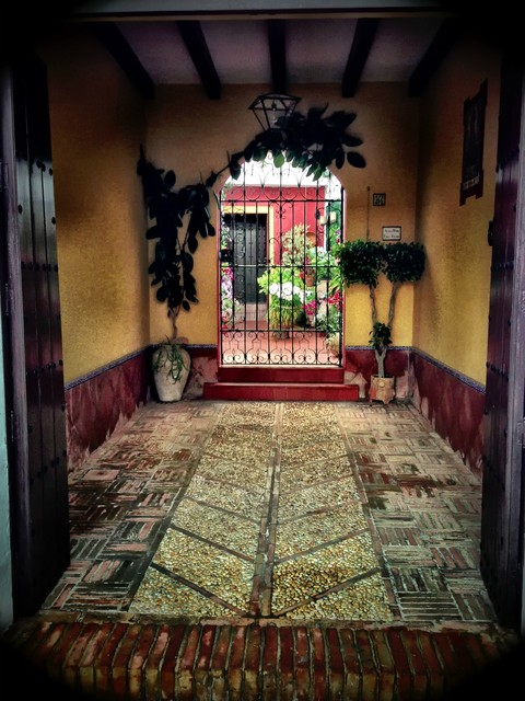 """Entrance to a Spanish Courtyard"" Artwork contemporary-originals-and-limited-editions"