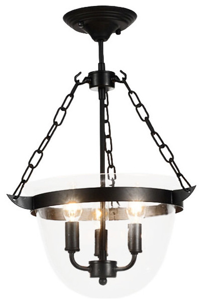 North Country Clear Glass And Iron Pendant Lighting Farmhouse Pendant Lig