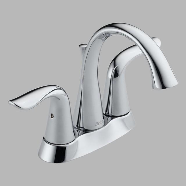 Delta lahara 2538 double handle centerset bathroom sink - Delta contemporary bathroom faucets ...
