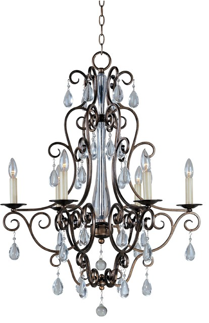 Maxim 12025 Tuscan Six Light Up Lighting Chandelier modern-chandeliers