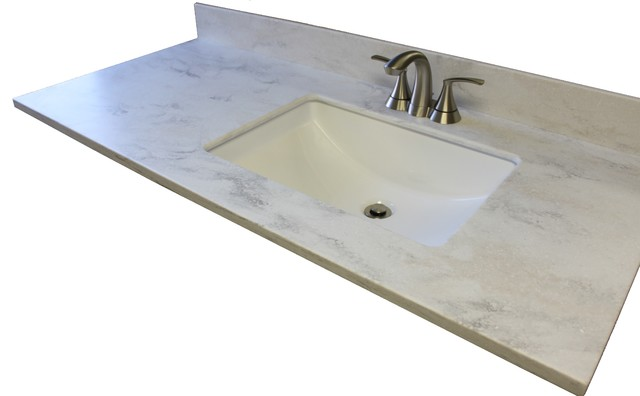 Corian vanity top beach style vanity tops and side for Corian sink accessories