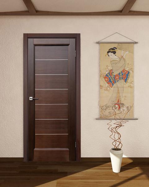"""""""Lagoon"""" wenge hallway interior door. modern-interior-doors"""