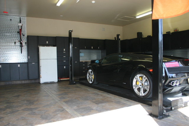 Powder Coated Garage cabinets - chicago - by Pro Storage Systems
