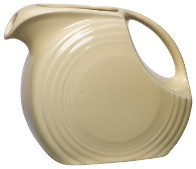 Fiesta Ivory Small Disc Pitcher - 28 oz. modern-wine-and-bar-tools
