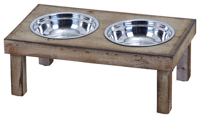 Classic Style Handmade Pet Feeder Food Bowl rustic-pet-supplies