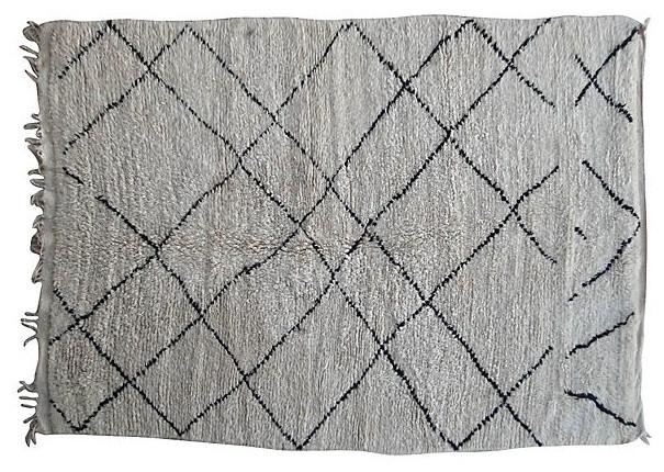 "Moroccan Beni Ourain Carpet. 10'4"" x 6'2"" contemporary-rugs"