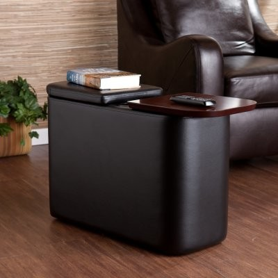 Southern Enterprises Ally Chairside Table - Black modern-side-tables-and-end-tables