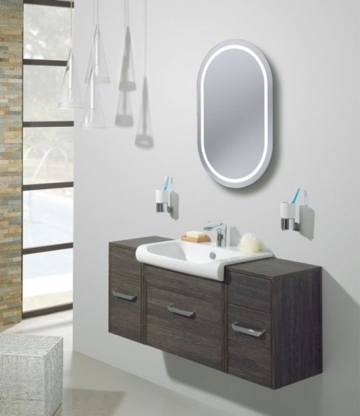 Bauhaus Essence Back Lit Mirror contemporary-bathroom-mirrors