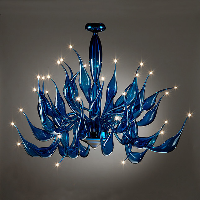 Alfa img Showing Modern Art Glass Chandelier