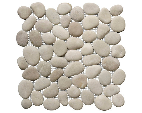 Island Stone - Perfect Pebble Tile, French Tan - Perfect Pebble Tile remains the premier pebble tile in the world. After picking pebbles that meet our highest standards of flat surface profile, color and quality, we slice them to a consistence surface before arranging them in our unique interlocking pattern. The resulting seamless surface is of unmatched appearance and quality. There is simply no substitute that even closely achieves the look and feel of Perfect Pebble.
