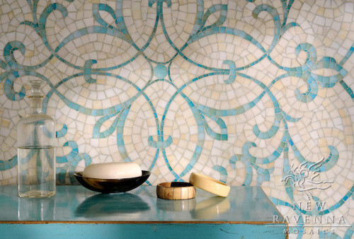 Glass mosaic traditional-tile