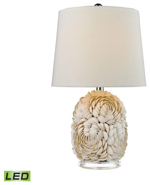 "23"" Natural Shell LED Table Lamp"