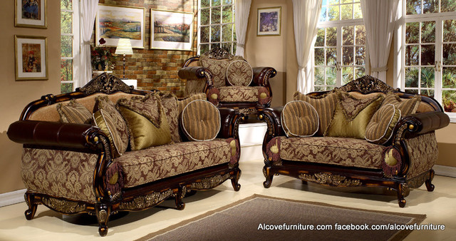appealing traditional fabric sofas living room furniture | Traditional Sofa sets/Living room sets