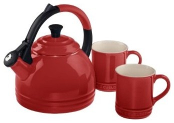 Le Creuset Teakettle and Mug Gift Set traditional-kettles