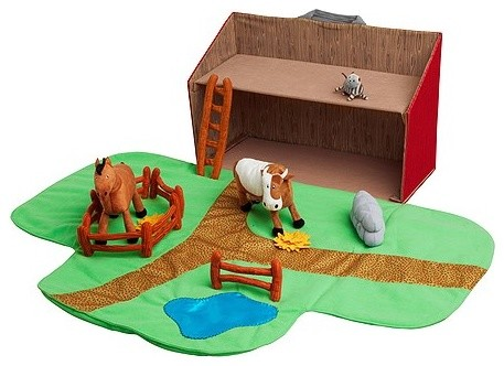 LANDET Farmhouse with animals,13 piece set modern-kids-toys-and-games