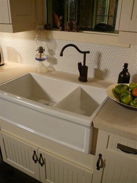 Herbeau Sinks : Herbeau Luberon Fireclay Farmhouse Double Sink - Traditional - Kitchen ...