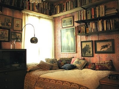 Bookshelves eclectic home office