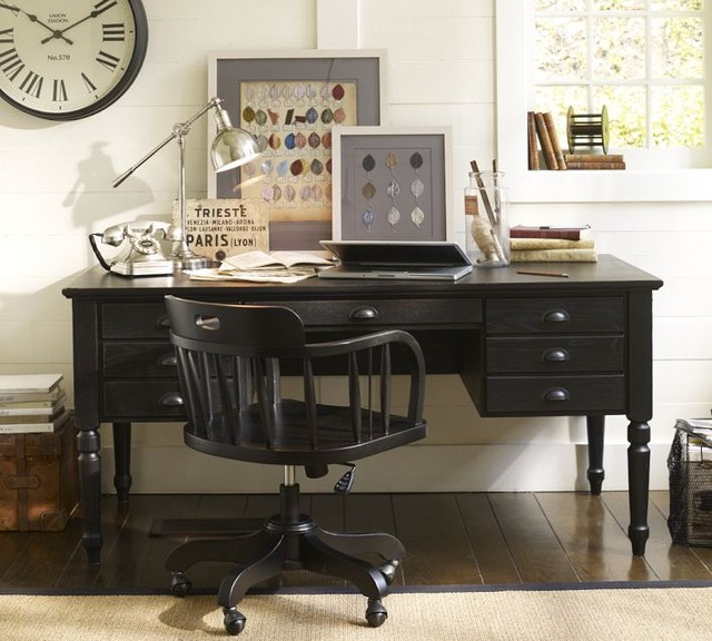 Printer's Keyhole Desk traditional-desks-and-hutches