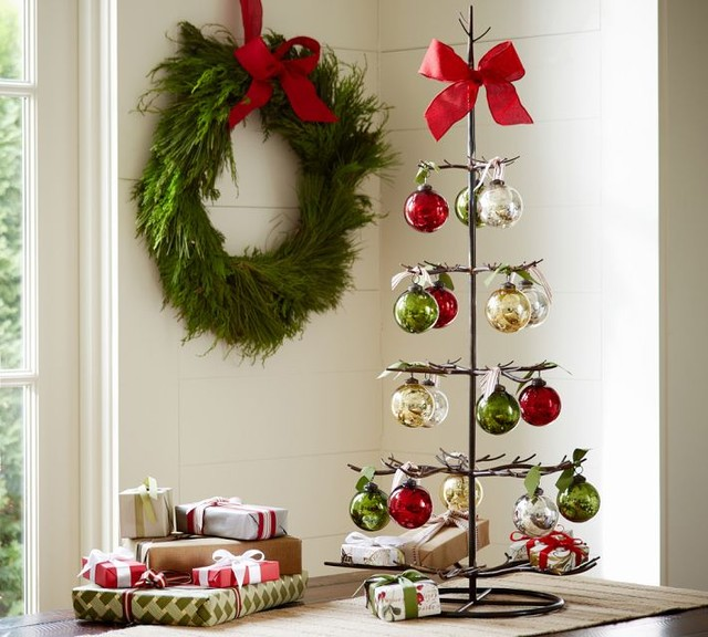 Metal ornament tree contemporary holiday accents and