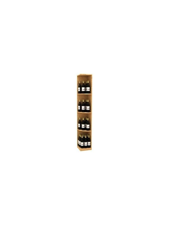 Solid Quarter Round Display Wine Rack - Square Base - The Solid Quarter Round Display Wine Rack - Square Base is part of our 6' Series.