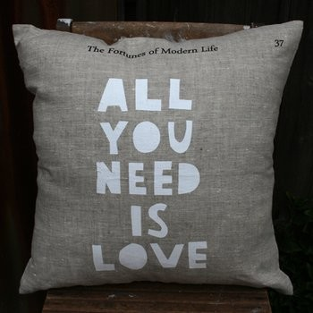 'All You need is Love' Cushion from Me and Amber eclectic-pillows
