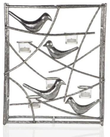 "Aviary Sconce 18.5"" - Silver modern-wall-lighting"