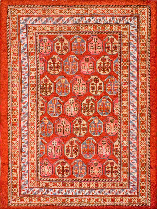 "Antique Turkish Oushak Carpets - #18871 antique Turkish Oushak carpet 5'0"" x 6'9"""