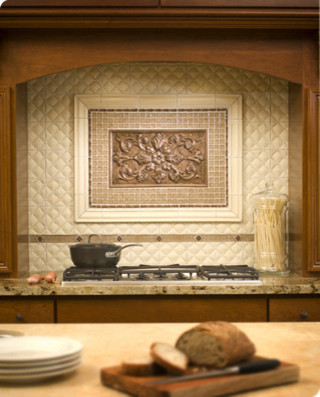 Sonoma Kitchen Inlay Medallion Traditional Tile