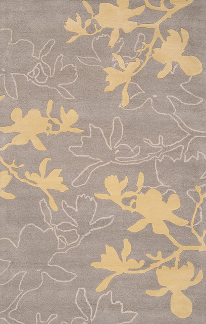 Organic Modern Rug - Magnolia In Gray, 3.5'x5.5' modern-rugs