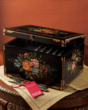 Bouquet Flatware Chest Bouquet Flatware Chest - traditional - baskets - by Horchow & Flatware Chests - Dream House Design
