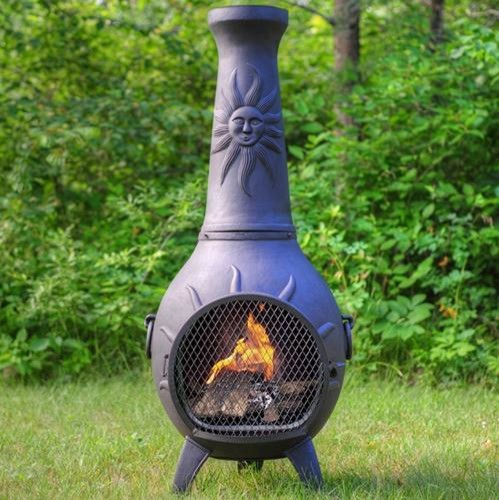 Fire Pits Chimineas: The Blue Rooster Sun Stack Style Chiminea