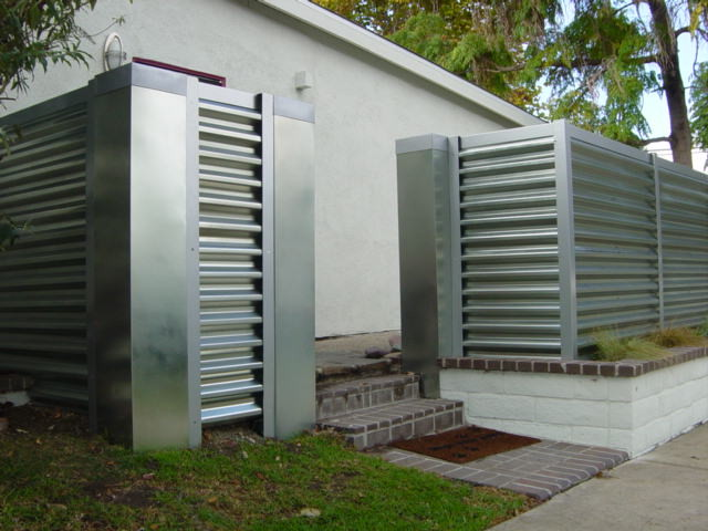Corregated Steel Fence Modern Orange County By