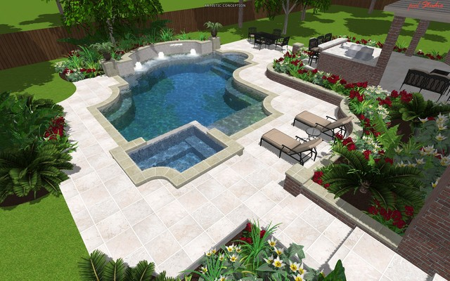 Cypress Custom Pools --- Design Pic Hybrid mediterranean pool