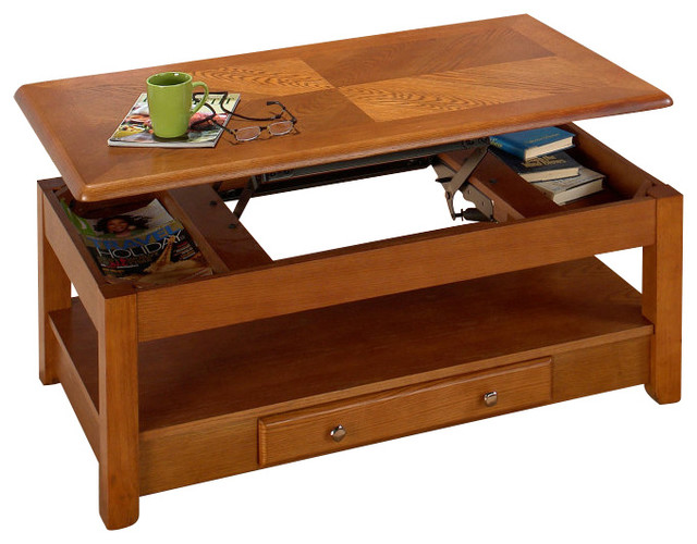 Jofran Sedona Lift-top 48x26 Cocktail Table contemporary-coffee-tables