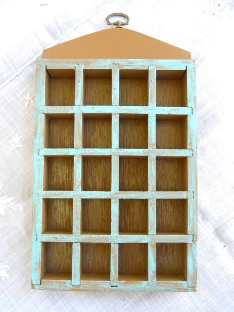 Vintage Cubby Hole Shadow Box by Sir Gunnison's Farm - Traditional - Display And Wall Shelves ...