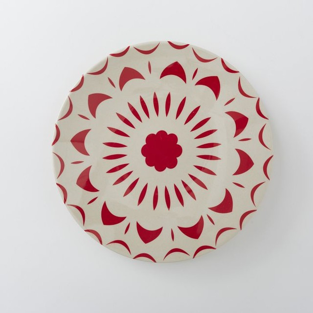 Bright Shapes Melamine Salad Plate, Coral - Contemporary - Salad And ...