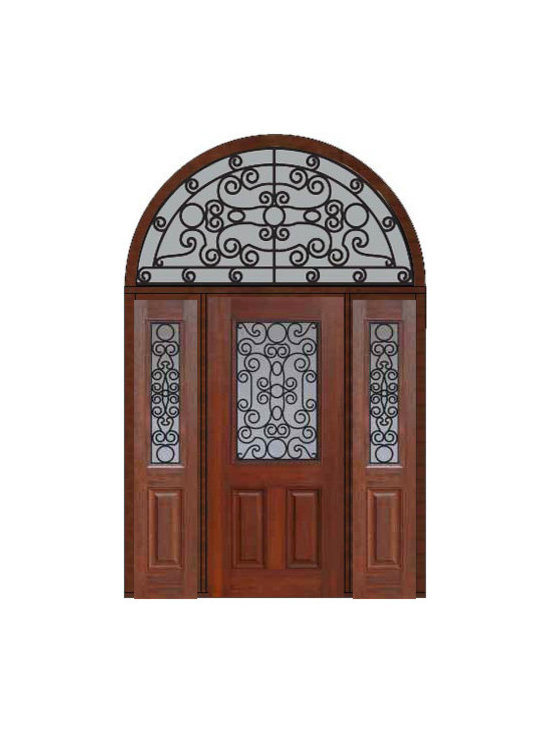"Prehung Sidelites-Transom Door 80 Fiberglass Genoa 1/2 Lite - SKU#    MCT012WG_DFHGG1-2HRGGBrand    GlassCraftDoor Type    ExteriorManufacturer Collection    1/2 Lite Entry DoorsDoor Model    GenoaDoor Material    FiberglassWoodgrain    Veneer    Price    4910Door Size Options    32"" + 2( 14"")[5'-0""]  $036"" + 2( 14"")[5'-4""]  $036"" + 2( 12"")[5'-0""]  $0Core Type    Door Style    Door Lite Style    1/2 LiteDoor Panel Style    2 PanelHome Style Matching    Door Construction    Prehanging Options    PrehungPrehung Configuration    Door with Two Sidelites and  Half Round TransomDoor Thickness (Inches)    1.75Glass Thickness (Inches)    Glass Type    Double GlazedGlass Caming    Glass Features    Tempered glassGlass Style    Glass Texture    Glass Obscurity    Door Features    Door Approvals    Energy Star , TCEQ , Wind-load Rated , AMD , NFRC-IG , IRC , NFRC-Safety GlassDoor Finishes    Door Accessories    Weight (lbs)    792Crating Size    36"" (w)x 108"" (l)x 89"" (h)Lead Time    Slab Doors: 7 Business DaysPrehung:14 Business DaysPrefinished, PreHung:21 Business DaysWarranty    Five (5) years limited warranty for the Fiberglass FinishThree (3) years limited warranty for MasterGrain Door Panel"