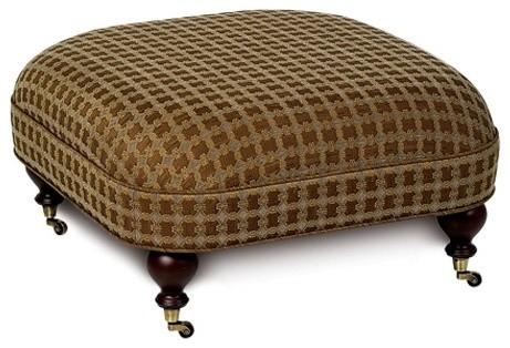 Umbridge Potter Slate Otoman On Casters Ottoman modern-footstools-and-ottomans