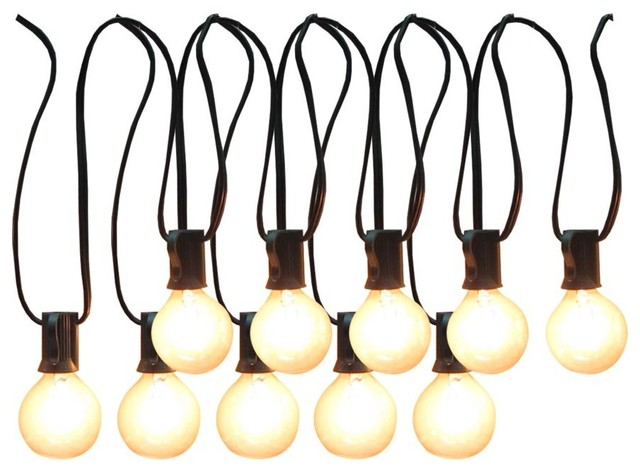 Allen Roth 12 Foot Clear Edison Bulb Patio String Lights Modern Outdoor